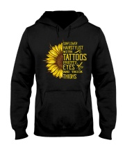 Sunflower Hairstylist With Tattoos Pretty Eyes And Hooded Sweatshirt thumbnail