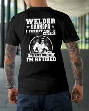 Welder Grandpa I Don't Want To Have To You Can't Classic T-Shirt lifestyle-mens-crewneck-back-3