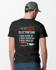 Electrician Wire 1 2 3 Classic T-Shirt lifestyle-mens-crewneck-back-6
