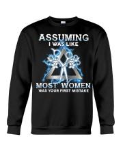 Assuming I Was Like Most Women Hair Stylist Crewneck Sweatshirt thumbnail