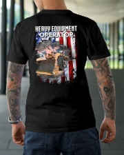 Heavy Equipment Operator Flag Classic T-Shirt lifestyle-mens-crewneck-back-3