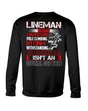 Lineman Ninja Official Job Shirt Crewneck Sweatshirt thumbnail