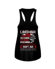 Lineman Ninja Official Job Shirt Ladies Flowy Tank thumbnail