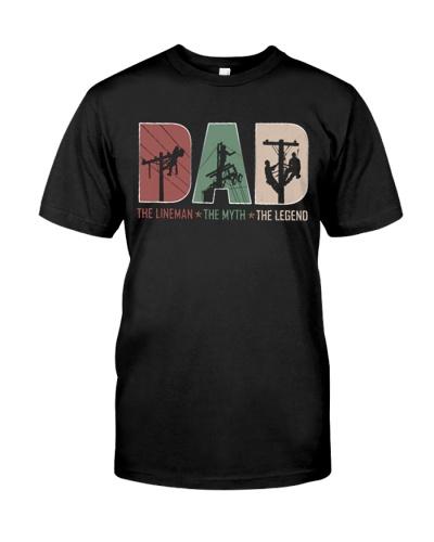 Lineman Myth Legend Dad