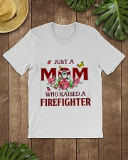 Just A Mom Who Raised A Firefighter Classic T-Shirt lifestyle-mens-crewneck-front-18