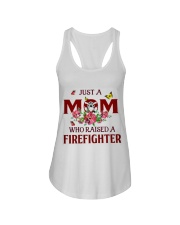 Just A Mom Who Raised A Firefighter Ladies Flowy Tank thumbnail