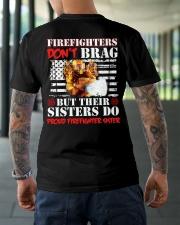 Proud Firefighter Sister Firefighter Don't Brag Classic T-Shirt lifestyle-mens-crewneck-back-3
