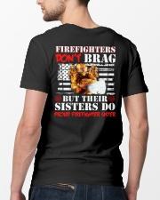 Proud Firefighter Sister Firefighter Don't Brag Classic T-Shirt lifestyle-mens-crewneck-back-5