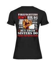 Proud Firefighter Sister Firefighter Don't Brag Premium Fit Ladies Tee thumbnail