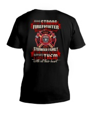 Behing Every Strong Firefighter V-Neck T-Shirt thumbnail