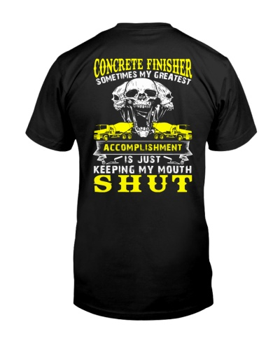 Concrete Finisher Greatest Accomplishment