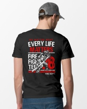 Firefighter Every Life Matters Classic T-Shirt lifestyle-mens-crewneck-back-6