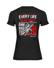 Firefighter Every Life Matters Premium Fit Ladies Tee thumbnail