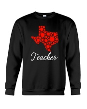 Texas Teacher Apple Crewneck Sweatshirt tile