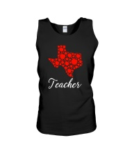 Texas Teacher Apple Unisex Tank tile
