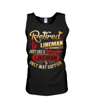 Retired Lineman Just Like A Regular Lineman Unisex Tank thumbnail
