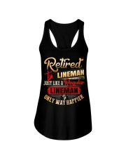 Retired Lineman Just Like A Regular Lineman Ladies Flowy Tank thumbnail