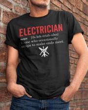 Electrician Strip Classic T-Shirt apparel-classic-tshirt-lifestyle-26