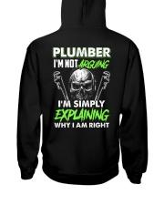 Plumber I'm Not Arguing Simply Explaining Hooded Sweatshirt thumbnail