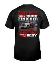 Don't Mess With A Concrete Finisher We know Classic T-Shirt back
