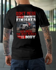 Don't Mess With A Concrete Finisher We know Classic T-Shirt lifestyle-mens-crewneck-back-3