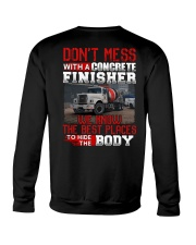 Don't Mess With A Concrete Finisher We know Crewneck Sweatshirt thumbnail
