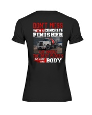 Don't Mess With A Concrete Finisher We know Premium Fit Ladies Tee thumbnail