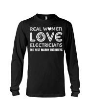 Real  Women Love  Eletricians The Rest Marry Long Sleeve Tee thumbnail