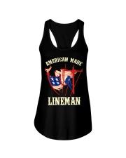 American Made Lineman Ladies Flowy Tank thumbnail