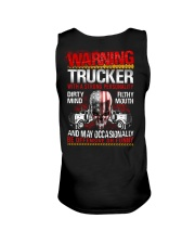 Warning Trucker With A Strong Personalit Unisex Tank thumbnail