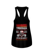 Warning Trucker With A Strong Personalit Ladies Flowy Tank thumbnail
