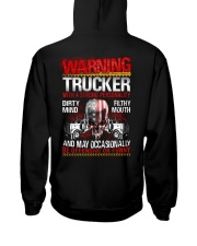 Warning Trucker With A Strong Personalit Hooded Sweatshirt thumbnail