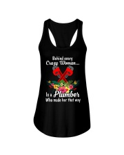 Behind Every Crazy Woman Is A Plumber Ladies Flowy Tank thumbnail