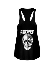 Roofer Because I'm Far Too Sexy To Wear Suit  Ladies Flowy Tank thumbnail
