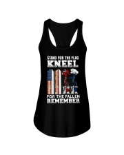 Stand for the flag Kneel for the fallen Remember Ladies Flowy Tank thumbnail