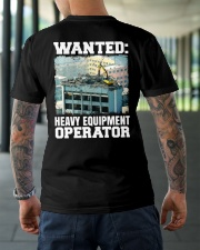 WANTED Heavy Equipment Operator  Classic T-Shirt lifestyle-mens-crewneck-back-3