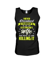Here I Am To Be An Electrician's Wife  Unisex Tank thumbnail