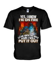 Welder I'm On Fire V-Neck T-Shirt thumbnail