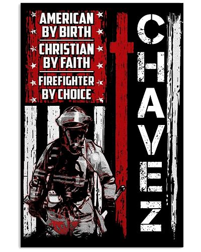 Chavez Firefighter By Choice Poster
