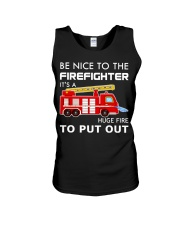Be Nice To The Firefighter Unisex Tank thumbnail