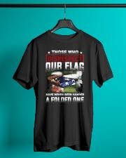Veteran Disrespect Our Flag Classic T-Shirt lifestyle-mens-crewneck-front-3