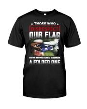 Veteran Disrespect Our Flag Premium Fit Mens Tee thumbnail