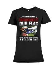 Veteran Disrespect Our Flag Premium Fit Ladies Tee thumbnail