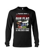 Veteran Disrespect Our Flag Long Sleeve Tee thumbnail