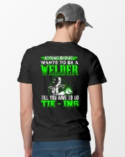 Welder You Have To Tie - Ins Classic T-Shirt lifestyle-mens-crewneck-back-6