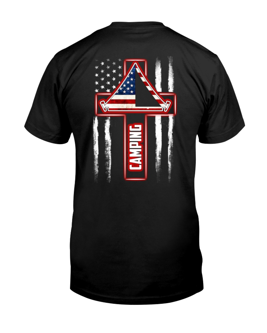 Camping Cross Flag Classic T-Shirt