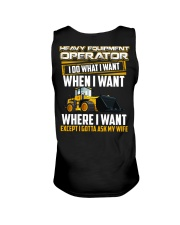 Heavy Equipment Operator Gotta Ask My Wife Unisex Tank thumbnail