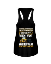 Heavy Equipment Operator Gotta Ask My Wife Ladies Flowy Tank thumbnail