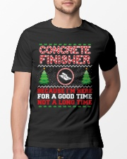 Concrete Finisher Here For A Good Time  Classic T-Shirt lifestyle-mens-crewneck-front-13