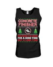 Concrete Finisher Here For A Good Time  Unisex Tank thumbnail